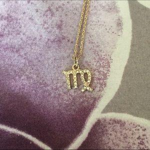 LC Lauren Conrad Gold Virgo Necklace